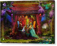 A Mad Tea Party Acrylic Print by Aimee Stewart