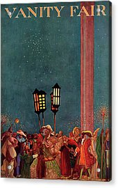 A Magazine Cover For Vanity Fair Of A Carnival Acrylic Print by Raymond Crawford Ewer