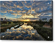 Acrylic Print featuring the photograph A Magical Marshmallow Sunrise  by Ron Shoshani