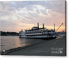 A Majestic Sunset Acrylic Print by Mel Steinhauer