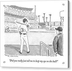 A Major League Baseball Player On Deck Acrylic Print
