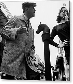 A Male And Female Model Posing On Chartres Street Acrylic Print