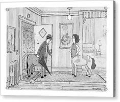 A Male Centaur Acrylic Print by Jason Patterson
