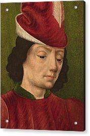 A Male Figure Perhaps Saint Sebastian A Acrylic Print by Savoyard School