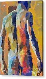 A Male Torso Acrylic Print