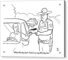 A Man Attempts To Bribe A Traffic Police Officer Acrylic Print