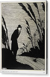 A Man Dressed In Black Acrylic Print by British Library