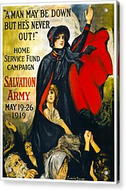 A Man May Be Down . . .   1919 Acrylic Print by Daniel Hagerman
