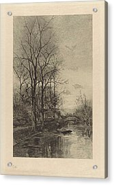 A Man On A Boat, Willem Steelink II Acrylic Print