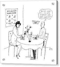 A Man On A Date Acrylic Print