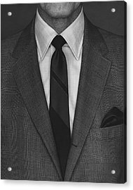 A Man Wearing A Suit Acrylic Print by Peter Scolamiero