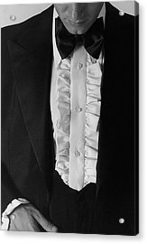 A Man Wearing A Tuxedo Acrylic Print