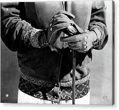 A Man Wearing Gloves Acrylic Print by Edward Steichen