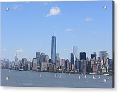 A Manhattan Saturday Acrylic Print by Suzanne Perry