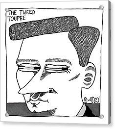 A Man's Head With A Tweed Toupee Acrylic Print