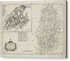 A Map Of Nottinghamshire Acrylic Print by British Library