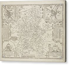 A Map Of Staffordshire Acrylic Print by British Library