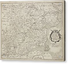 A Map Of The County Of Essex Acrylic Print by British Library