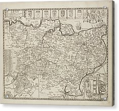 A Map Of The County Of Kent Acrylic Print by British Library