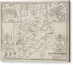 A Map Of The County Of Rutlandshire Acrylic Print by British Library
