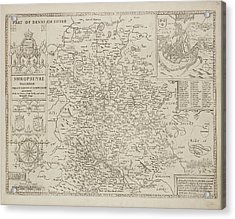 A Map Of The County Of Shropshire Acrylic Print by British Library