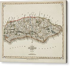 A Map Of The County Of Sussex Acrylic Print