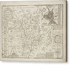 A Map Of The County Of Worcestershire Acrylic Print by British Library