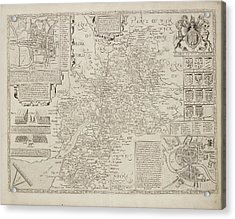 A Map Of The River Thames Acrylic Print by British Library