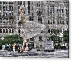 A Marilyn Mosaic Acrylic Print by David Bearden