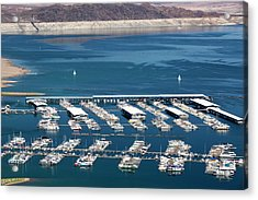 A Marina On Lake Mead Acrylic Print by Ashley Cooper