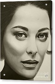 A Mark Of Beauty - Marion Cotillard Acrylic Print