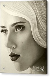 A Mark Of Beauty - Scarlett Johansson Acrylic Print