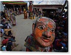 A Masked Dancer At The Karsha Gustor Acrylic Print