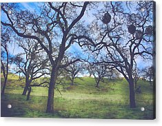A Meeting Of Men Acrylic Print by Laurie Search