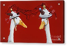 A Meeting Of The Minds... Acrylic Print by Will Bullas