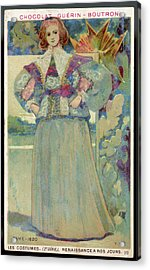A Middle-class Lady In  Lacy Collar Acrylic Print by Mary Evans Picture Library