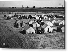 A Migratory Workers Camp Acrylic Print by Underwood Archives