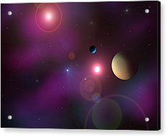A Million Light Years Acrylic Print by Ricky Haug