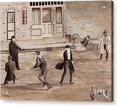 A Minor Misunderstanding Tombstone Az Acrylic Print by Stuart B Yaeger