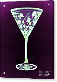 A Mint Martini On Plum Acrylic Print