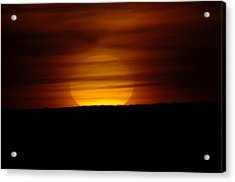 A Misted Sunset Acrylic Print by Jeff Swan