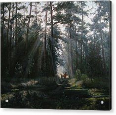 A Misty Morning Acrylic Print by Korobkin Anatoly