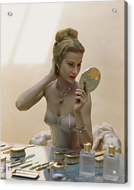 A Model At A Dressing Table Acrylic Print