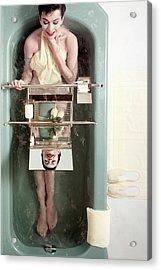 A Model In A Bathtub Acrylic Print