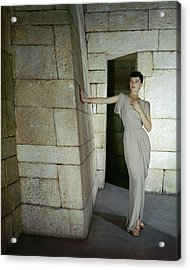 Model At Metropolitan Museum Of Art Acrylic Print