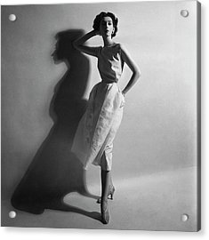 A Model In A Sheath Dress Acrylic Print