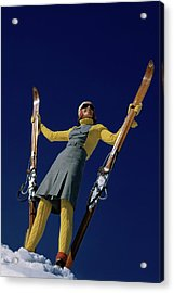 A Model In A Ski Suit Acrylic Print