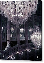 A Model On The Balcony Of The Theatre Acrylic Print by Henry Clarke