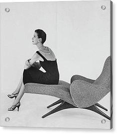 A Model Wearing A Almanac Dress Acrylic Print