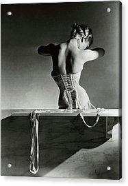 The Mainbocher Corset Acrylic Print by Horst P Horst